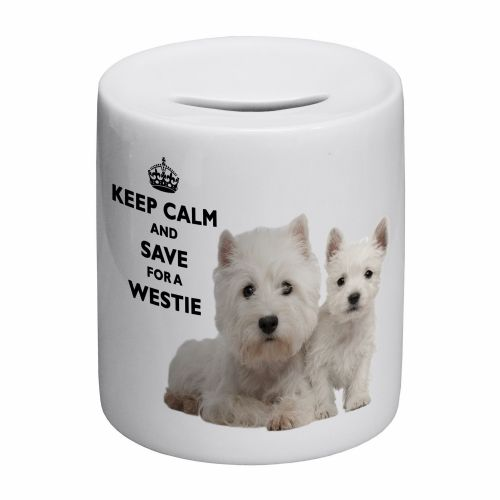 Keep Calm And Save For A Westie Novelty Ceramic Money Box